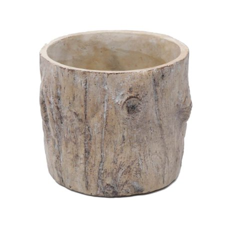 Vaso de Cerâmica Wood Trunk Marrom 15x15x13cm Urban