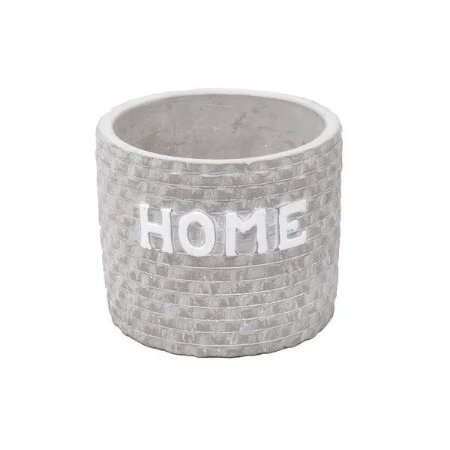 Cachepot de Concreto Home Bricks Cinza 11x11x9cm Urban