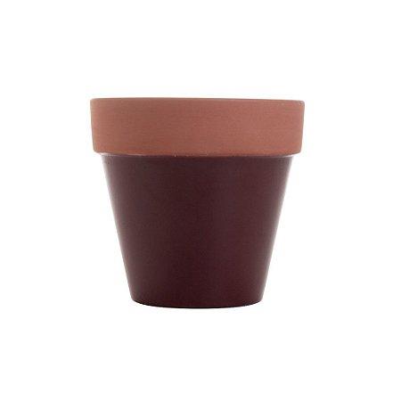 Vaso de Cerâmica Terracota Colar Marsala Peq 8x8x7cm Urban