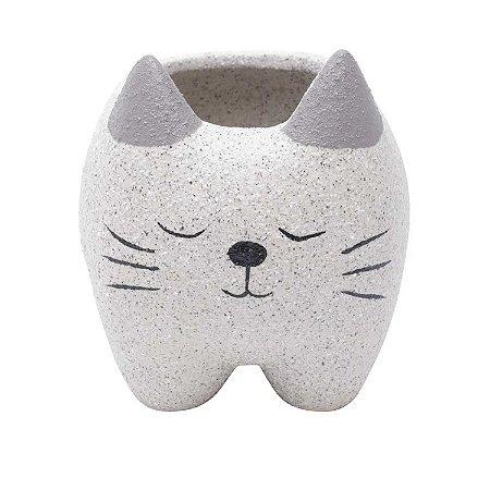 Cachepot Concreto Sleeping Cat Cinza 9x8x9cm Urban