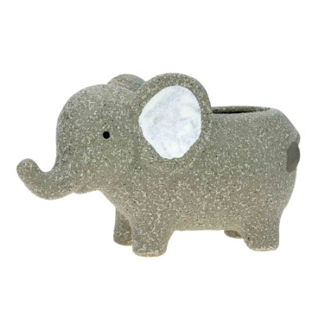 Cachepot Concreto Baby Elephant Cinza 14x7x9cm Urban