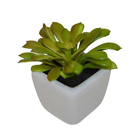 Vaso de Cacto Louça Branca 9 cm Bela Flor