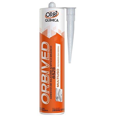 Adesivo de Silicone Acético Orbived Branco 250g Orbi