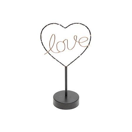 Luminária Led de Mesa Love Heart Urban 17x30x9 cm Urban