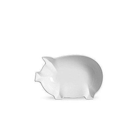 Tigela Grande Branca Pig 24x38x8 cm Scalla Cerâmica