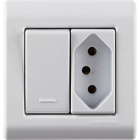Interruptor Simples 10A 250V Tomada 2P+T 10A 250V Tramontina