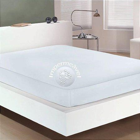 Protetor Colchão Casal Impermeável 1 Pç Fix Branco Bouton
