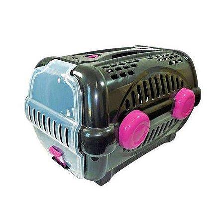 Caixa para Transporte Luxo N.2 Black c/ Rosa Furacão Pet