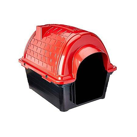 Casinha Plástica Iglu Vermelho Número 4 Furacão Pet