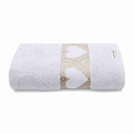 Toalha de Rosto Passione 50x70 Branco 1 Peça Bouton