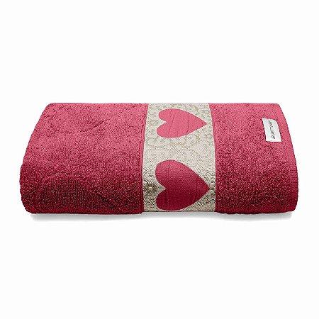 Toalha de Banho Passione 70x140 Vermelho 1 Peça Bouton