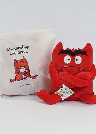 Pelúcia O monstro das cores - Vermelho (raiva)