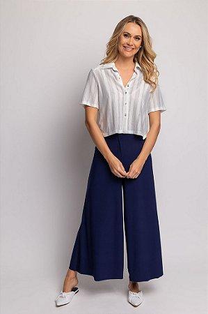 Camisa Manga Curta Cropped Bruna