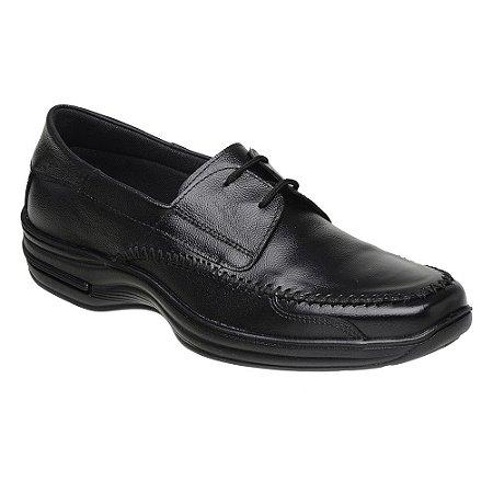 Sapato Masculino Cadarço Couro Preto Torani SLZ