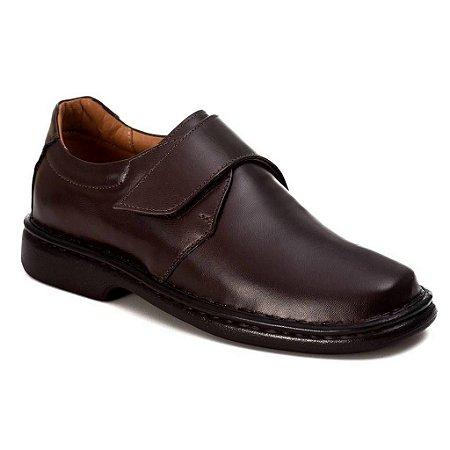Sapato Conforto Masculino Couro Marrom ou Preto