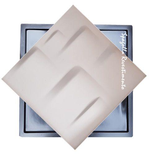 Forma Molde para Gesso 3D e Cimento Modelo Mônaco 39x39 ABS - Esquadro Perfeito