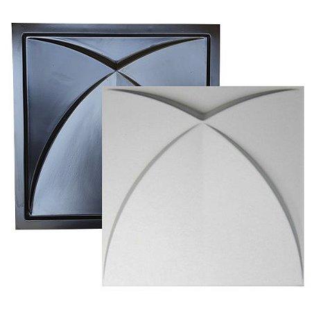 Forma Molde para Gesso 3D e Cimento Modelo Treviso 39x39 ABS - Esquadro Perfeito