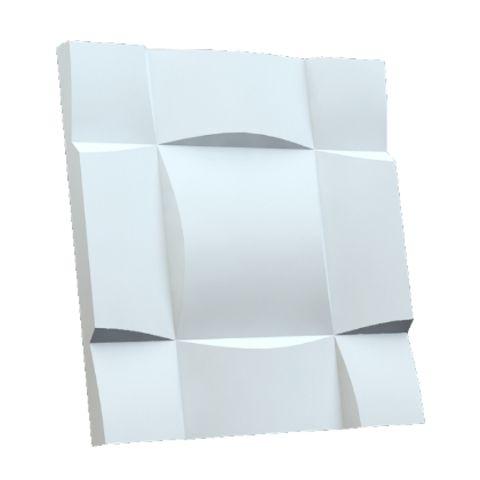 Forma Molde para Gesso 3D e Cimento ABS Modelo Ondulato 49x49 ABS - Esquadro Perfeito