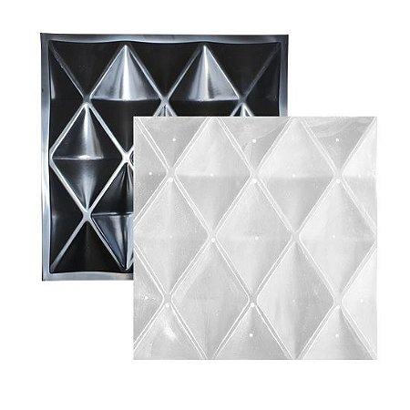 Forma Molde para Gesso 3D e Cimento ABS Modelo Terni 49x49 ABS - Esquadro Perfeito