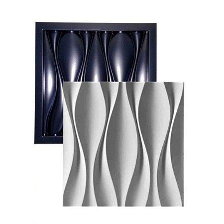 Forma Molde para Gesso 3D e Cimento Modelo Ondas Dunas 49x49 ABS - Esquadro Perfeito