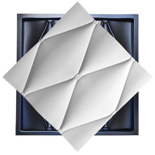 Forma Molde para Gesso 3D e Cimento Modelo Coni 49x49 ABS - Esquadro Perfeito