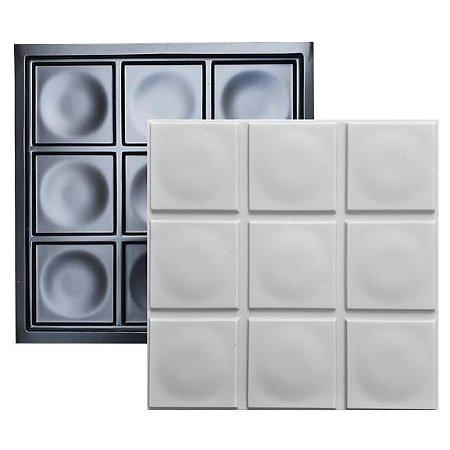 Forma Molde para Gesso 3D e Cimento Modelo Pola 49x49 ABS - Esquadro Perfeito