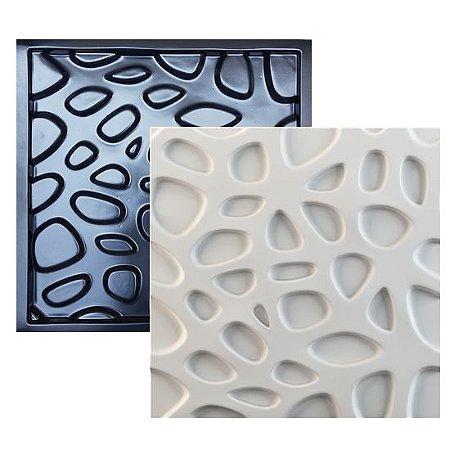 Forma Molde para Gesso 3D e Cimento Modelo  Etna 49x49 ABS - Esquadro Perfeito