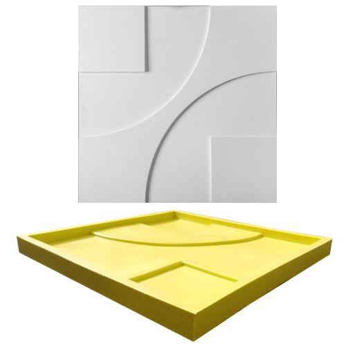 Forma Molde pra Gesso 3D e Cimento Silicone Modelo Bergamo 29x29 - Esquadro Perfeito
