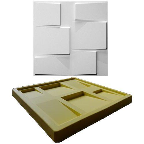 Forma Molde pra Gesso 3D e Cimento Silicone Modelo Block 29x29 - Esquadro Perfeito