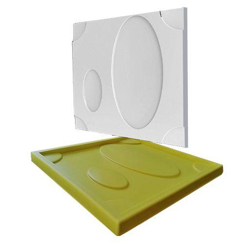 Forma Molde pra Gesso 3D e Cimento Silicone Modelo CATANIA 29x29 - Esquadro Perfeito