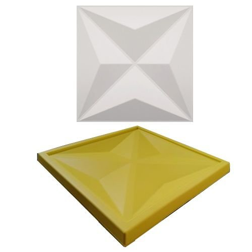 Forma Molde pra Gesso 3D e Cimento Silicone Modelo CULLINANS 29x29 - Esquadro Perfeito
