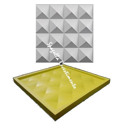 Forma Molde pra Gesso 3D e Cimento Silicone Modelo DIAMANTE 29x29 - Esquadro Perfeito