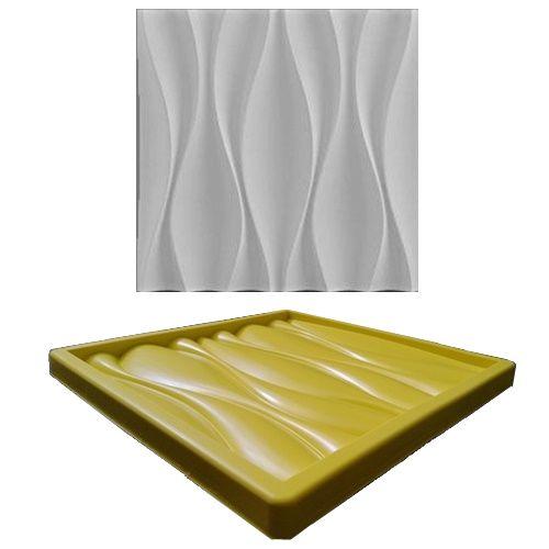 Forma Molde pra Gesso 3D e Cimento Silicone Modelo DUNAS 29x29 - Esquadro Perfeito