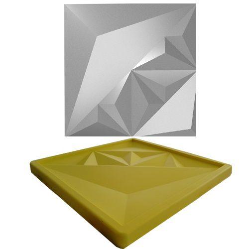 Forma Molde pra Gesso 3D e Cimento Silicone Modelo FERRARA 29x29 - Esquadro Perfeito