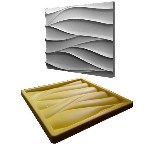 Forma Molde pra Gesso 3D e Cimento Silicone Modelo MARANELLO 29x29 - Esquadro Perfeito