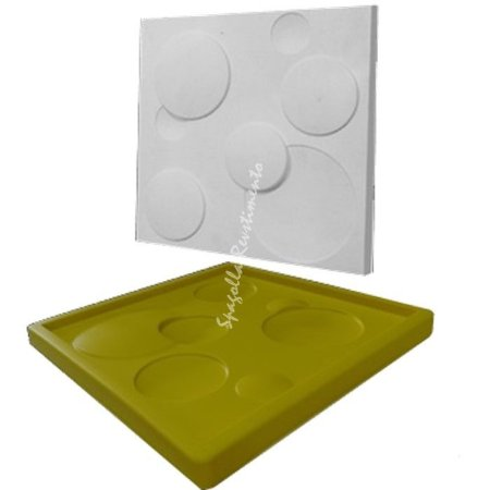 Forma Molde pra Gesso 3D e Cimento Silicone Modelo Mini Bologna 29x29 - Esquadro Perfeito