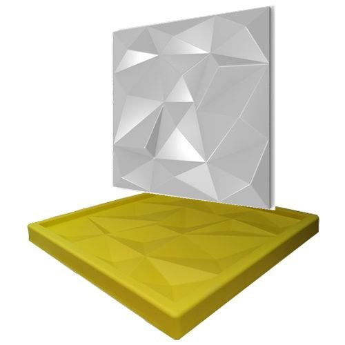 Forma Molde pra Gesso 3D e Cimento Silicone Modelo MINI LIGURIA 29x29 - Esquadro Perfeito