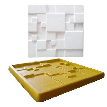 Forma Molde pra Gesso 3D e Cimento Silicone Modelo Mosaico Liso 29x29 - Esquadro Perfeito
