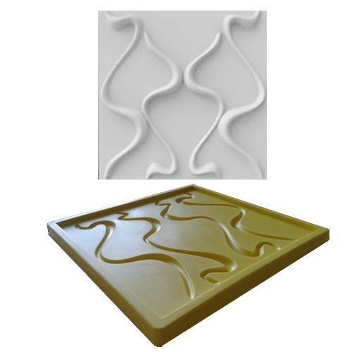 Forma Molde pra Gesso 3D e Cimento Silicone Modelo Neive 29x29 - Esquadro Perfeito