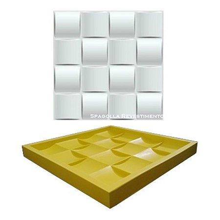 Forma Molde pra Gesso 3D e Cimento Silicone Modelo Ondulada 27x27 - Esquadro Perfeito