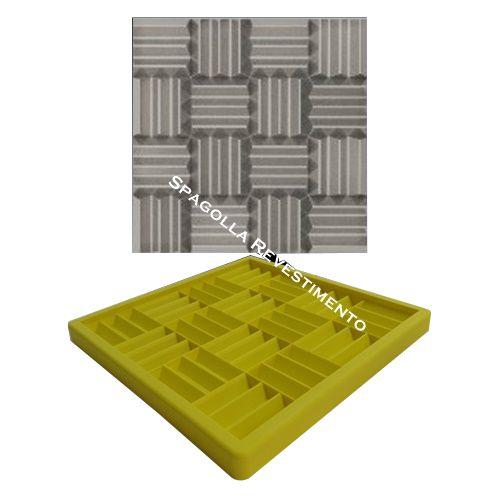 Forma Molde pra Gesso 3D e Cimento Silicone Modelo Reggio 29x29 - Esquadro Perfeito