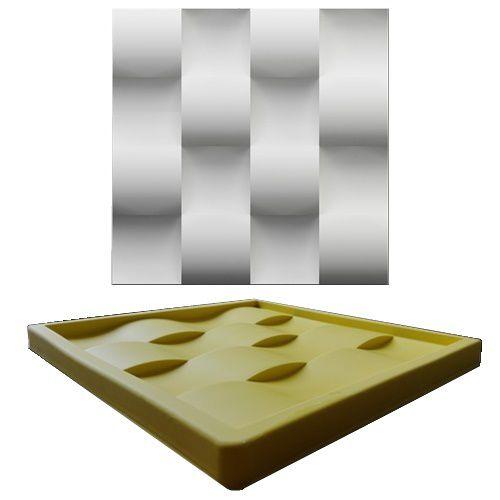 Forma Molde pra Gesso 3D e Cimento Silicone Modelo Tijolinho Côncavo 29x29 - Esquadro Perfeito