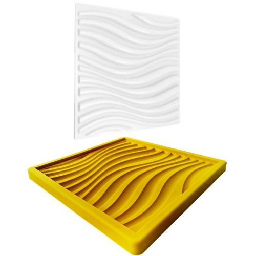 Forma Molde pra Gesso 3D e Cimento Silicone Modelo  Sicília 29x29 - Esquadro Perfeito
