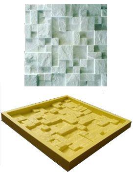 Forma Molde pra Gesso 3D e Cimento Silicone Modelo Travertino 28x28 - Esquadro Perfeito