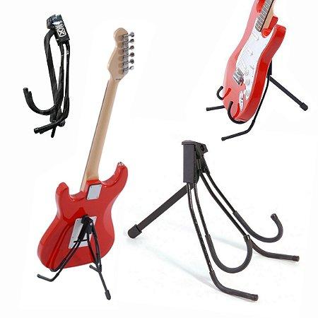Suporte De Chão Compacto Ibox Para Violão, Guitarra, Cavaquinho e Baixo