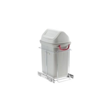 Lixeira Deslizante Simples C/Cest 19 L 240x525x420