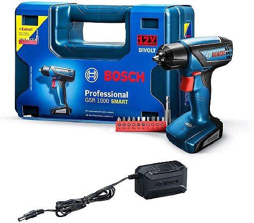 Parafusadeira Bosch GSR1000 Smart Com Maleta 12V Bivolt