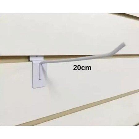 Ganchos Expositor 20cm Branco Para Painel Canaletado