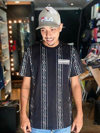 Camiseta Fila Linear T-Shirt Masculina Preta 964736