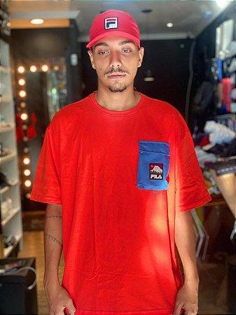 Camiseta Fila Utilitary Laranja/Azul 967496